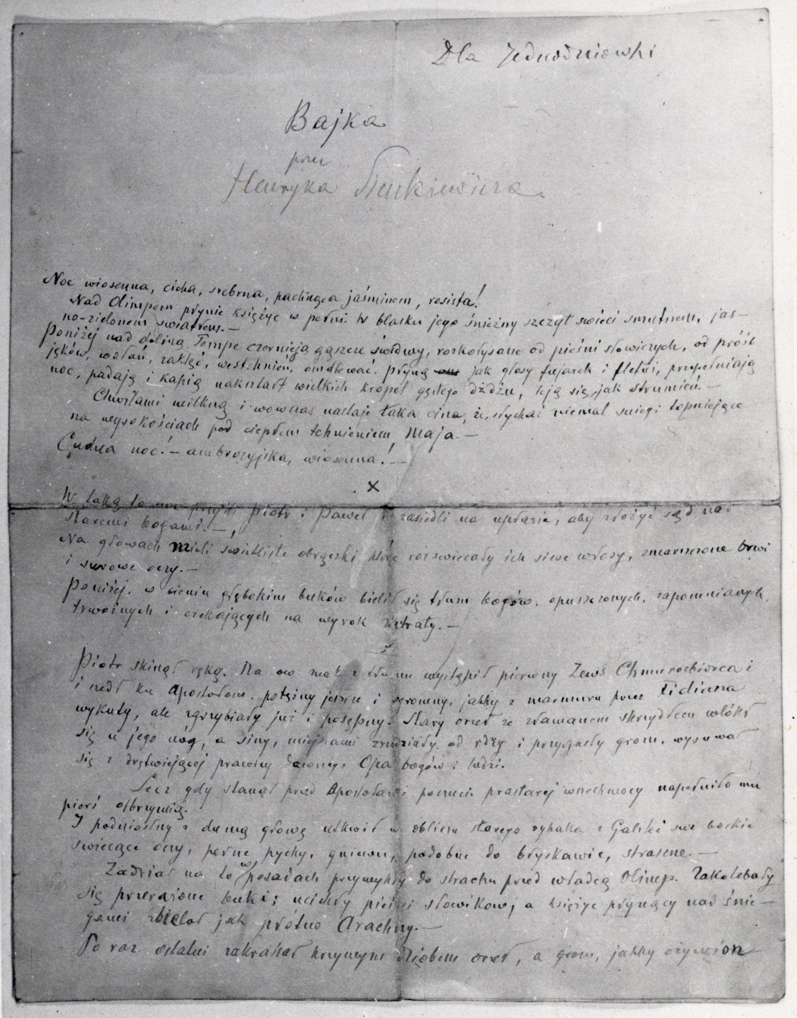 Bajka Sienkiewicza dla Jednodniówki