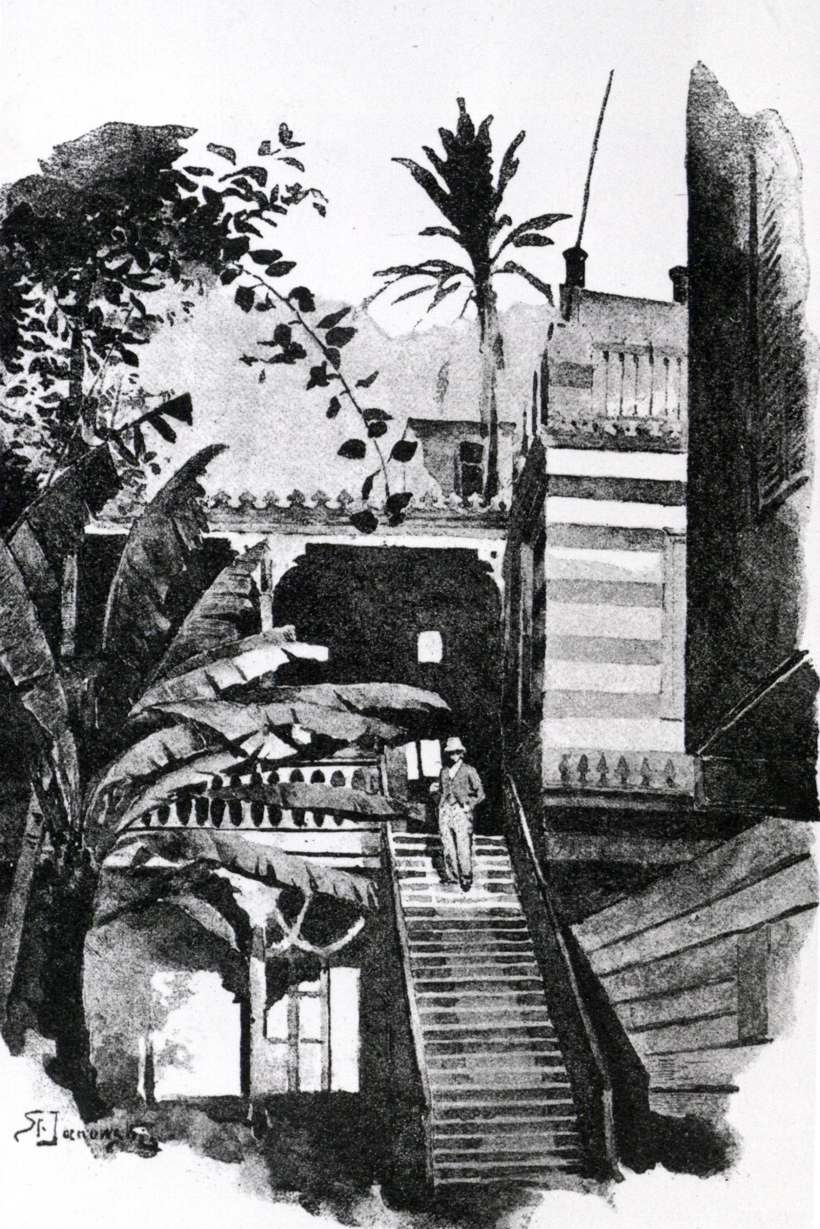Sienkiewicz H. natarasie hotelu Du Nil wKairze