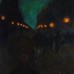 Gustaw Gwozdecki, Wieczorna tęsknota, Paryż, przed 1914, Muzeum Narodowe w Kielcach
