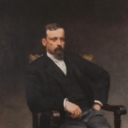 Kazimierz Pochwalski, portret Henryka Sienkiewicza, 1890, Pałacyk Henryka Sienkiewicza w Oblęgorku - oddział Muzeum Narodowego w Kielcach