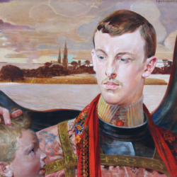 Kazimierz Pochwalski, portret Henryka Józefa Sienkiewicza (syna pisarza), 1906, Pałacyk Henryka Sienkiewicza w Oblęgorku - oddział Muzeum Narodowego w Kielcach