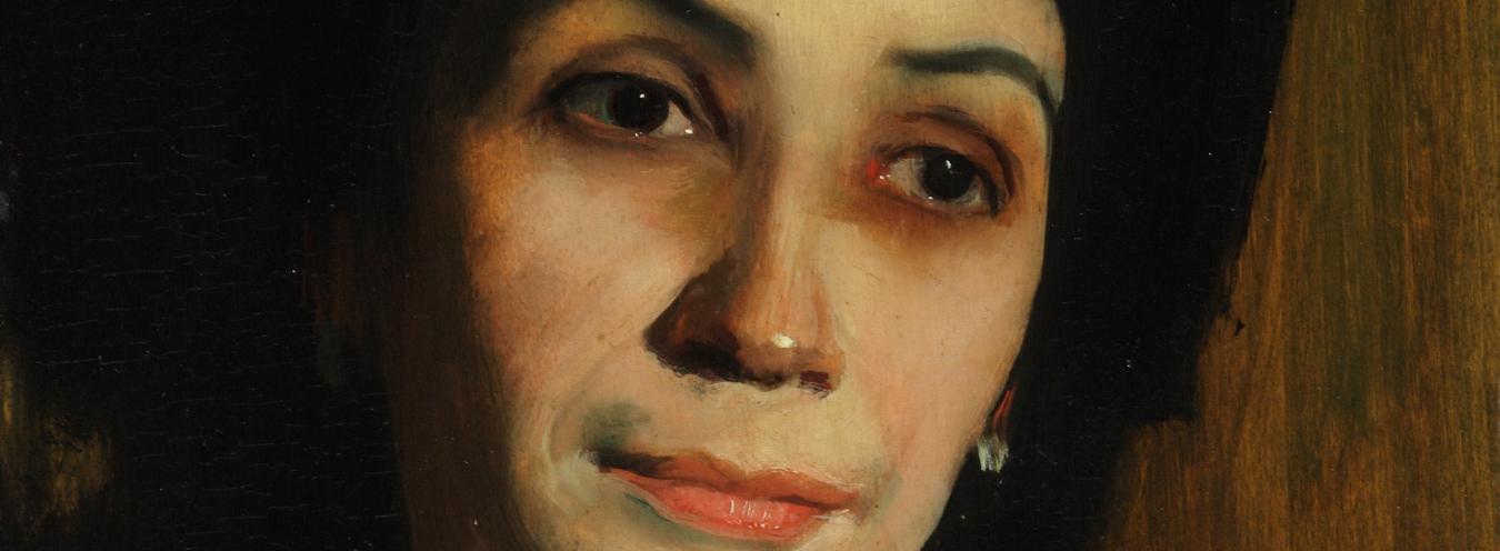 Konrad Krzyżanowski, Portret pani B., 1914? , Muzeum Narodowe w Kielcach
