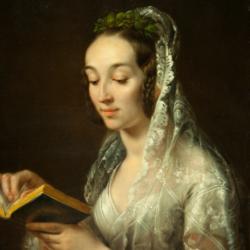 Rafał Hadziewicz, Portret żony w strony ślubnym, ok. 1835, Muzeum Narodowe w Kielcach