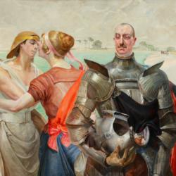 Jacek Malczewski, Herkules na rozstajnych drogach (Portret Aleksandra Wielopolskiego), 1920, Muzeum Narodowe w Kielcach
