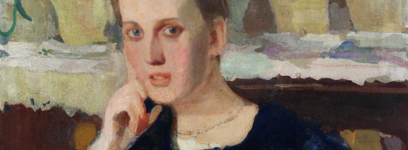 Witold Wojtkiewicz, Portret pani M.R. (Marii Raczyńskiej, po 1900, Muzeum Narodowe w Kielcach