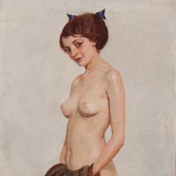 Edward Okuń, Dama z mufką, 1912, Muzeum Narodowe w Kielcach