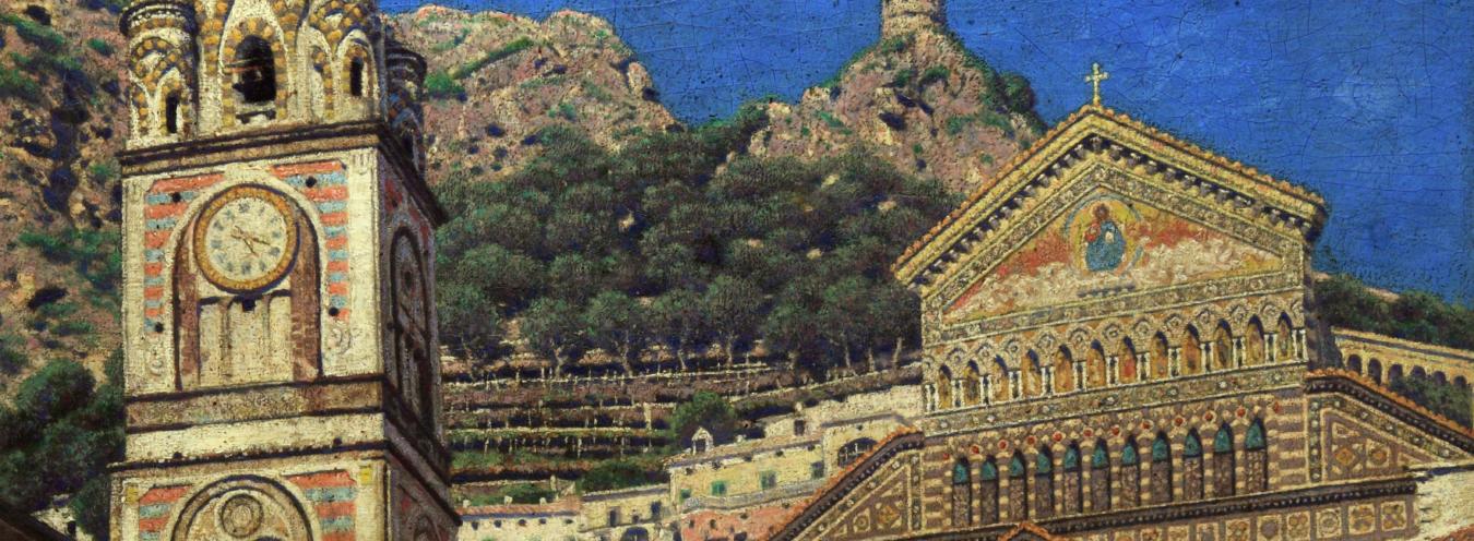 Aleksander Gierymski, Katedra w Amalfi, 1899, Muzeum Narodowe w Kielcach